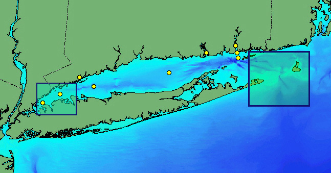 Long Island Buoy Map